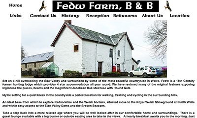 Fedw Farm B&B  - Designed and Hosted by Weboriel, click here to view more information