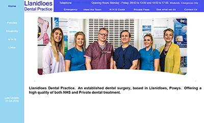 Llanidloes Dental Practice - Designed and Hosted by Weboriel, click here to view more information
