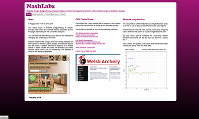 NashLabs - Designed by Martin Nash and Hosted by Weboriel, click here to view more information