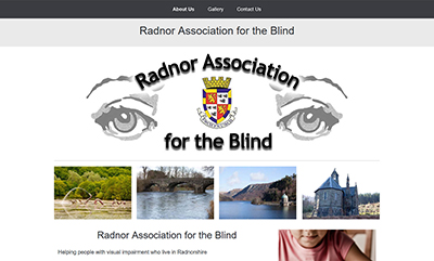 Radnor Association for the Blind - Designed by Martin Nash and Hosted by Weboriel, click here to view more information